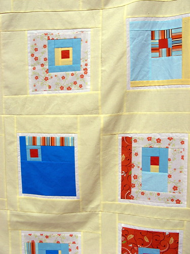 """All Squared Up"" Quilt Top - detail"
