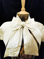 Bella Bolero (Gabrielle Louise Bridal) Tags: uk vintage bride clothing silk wrap bow bridesmaid accessories weddings shrug bolero gabriellelouise pussybow silkdupion