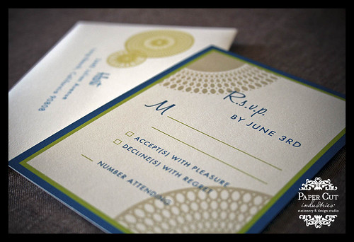 Custom Barmitzvah Invitations with RSVP Card