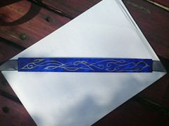 Blue and silver choker