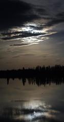 Little Yellow Star (Kurayba) Tags: park sunset sun lake canada reflection water yellow landscape island star duck little pentax shoreline sigma trail national alberta elk k7 sigma18125mmf3556dc 18125 astotin