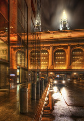 Approaching Grand Central Station in the Rain (Stuck in Customs) Tags: world new york city nyc newyorkcity railroad travel urban usa ny newyork apple wet rain station architecture night digital america train photography blog big high slick december dynamic stuck manhattan united north central grand terminal east midtown transit processing grandcentralstation imaging states grandcentral northeast range bigapple 2009 hdr tutorial trey travelblog customs grandcentralterminal ratcliff hdrtutorial stuckincustoms treyratcliff stuckincustomscom nikond3x