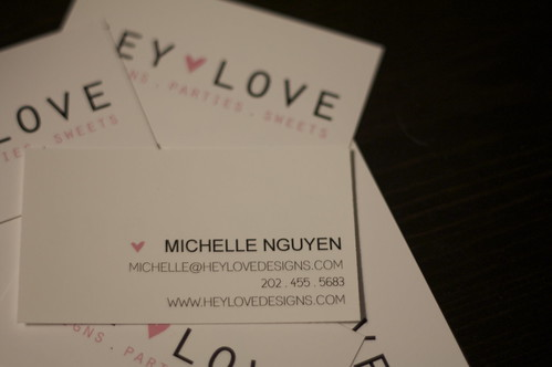 Hey Love Business Cards