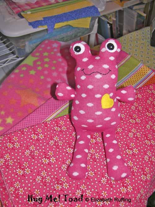 Pink Polka Dot Hug Me! Toad by elizabeth Ruffing