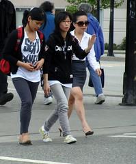 Da Da Da (knightbefore_99) Tags: street girls station vancouver corner asian candid trio skytrain commercialdrive eastvan thedrive dadada