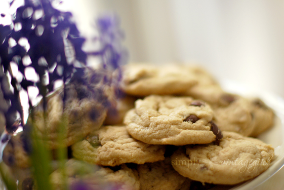 G-Free Chocolate Chip Cookies {& hyacinths}
