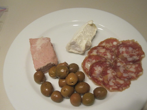 Charcuterie, olives