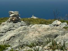 This is the path (uempe (only sporadically here)) Tags: digital europe europa photo foto panasoniclumixdmcfz7 panasonic spanien spain espana espanya mallorca majorca balearen balears baleares balearic 2010 berg cairn marker steinmännchen wegmarkierung puigdelaguila españa mountain rock fels felsen landscape landschaft nature natur