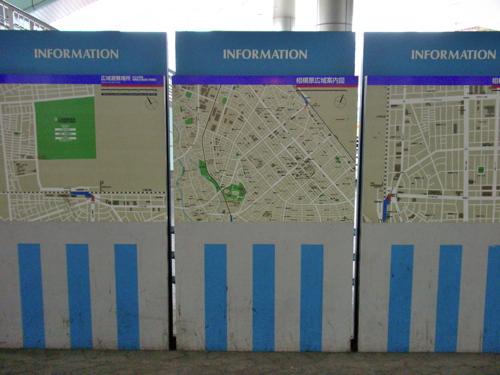 駅前にある案内地図をわかりにくい