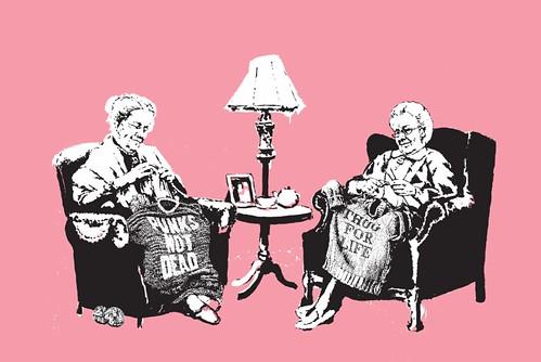 Banksy grannies
