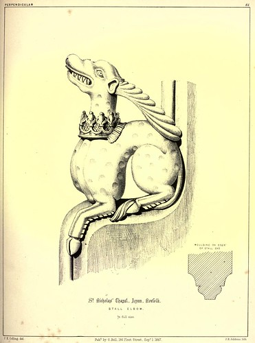010- Estatua de madera acodada-Capilla de San Nicolas-Lynn en Norfolk-Gothic ornaments.. 1848-50-)- Kellaway Colling