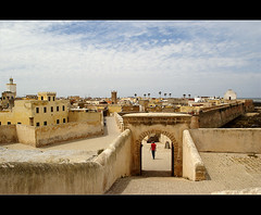 the old city (atsjebosma) Tags: panorama haven clouds port bomen fort mosque palmtrees morocco maroc walls fortress portuguese unescoworldheritage theoldcity atlanticcoast muren eljadida abigfave oudestad atsjebosma