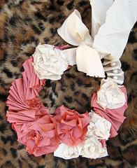 Silk Flower Necklace DIY -on leopard print (...love Maegan) Tags: diy accessories doityourself pearlnecklace flowernecklace ribbonnecklace necklacediy easydiys prettyinpinknecklaces