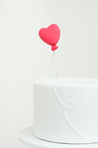 heart balloon topper