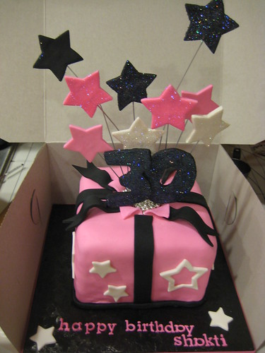 30th birthday cake - Shooting stars