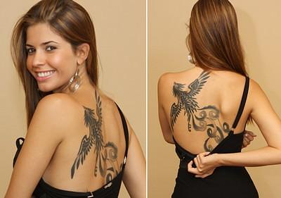tatuagem fenix da cacau