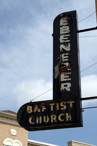 ebenezer baptist church neon sign