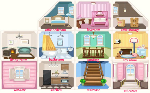 335 dollhouse rooms