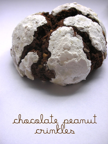 chocolate peanut crinkles