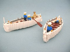 US Navy 26ft Whaler for USS Intrepid (1) (Lego Monster) Tags: boat ship lego wip 1945 usnavy carrier whaler worldwar2 ussintrepid essexclass
