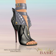 Stiletto Moody Bare Robin (Python Silver 2) (Stiletto Moody) Tags: wild robin leather silver boot spring heart snaps zipper quilted python sole 2010 bootie patent moodys impossiblyhighheels impossiblyhipheels badseedred stilettomoodyspring2010wildatheartcollection