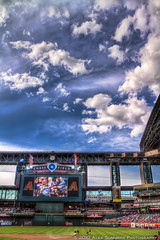 clouds above Chase Field (www.alexsommersphotography.com) Tags: arizona sky building phoenix field architecture clouds photoshop canon ball eos is downtown baseball stadium az diamond 7d usm dslr efs f28 hdr 1022 diamondbacks 1755 dbacks 1755mm photomatix chasefield cs5 f354 lightroom3 topazadjust wwwalexsommersphotographycom