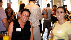 @dceventjunkie and Beth Lawton of patch.com  at #dcweek tbd.com Blog and brunch mixer