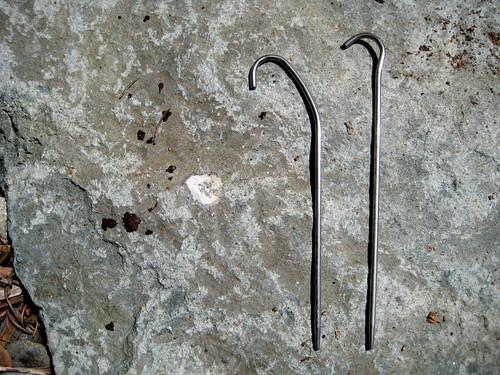 Bent Titanium Shepard Hook Stake