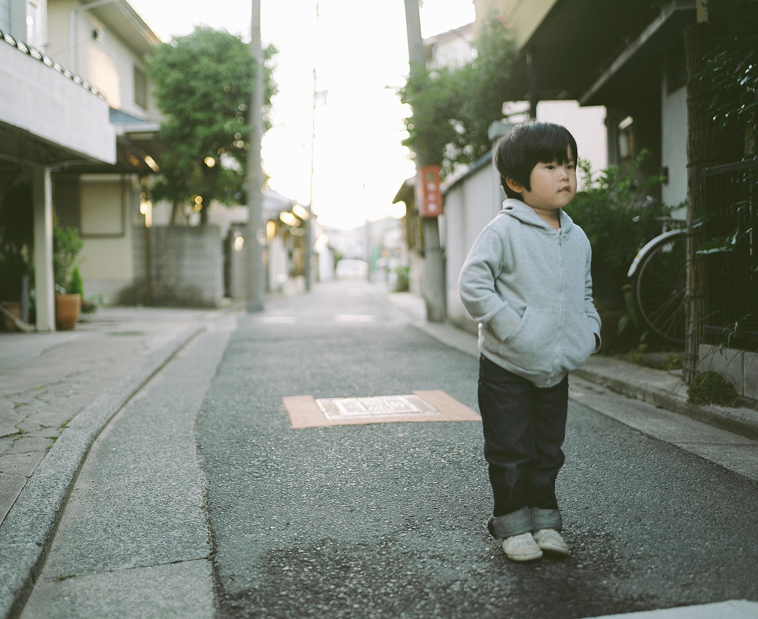 Dos niños creciendo en Japón