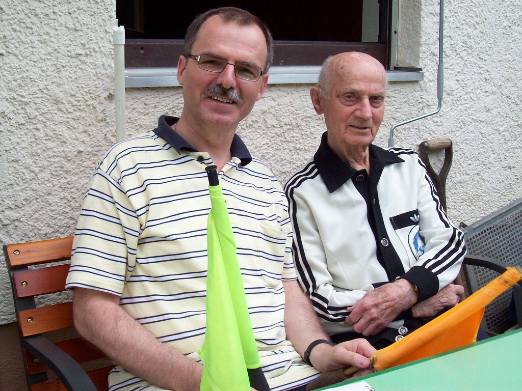 The inventor of the Referee Paging System: The former German FIFA-Referee Rudolf Kreitlein, June, 14th, 2010, Stuttgart, Germany