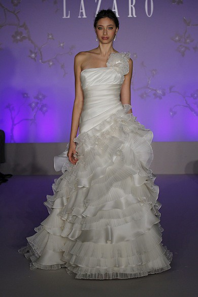 Wave style of wedding dress silk