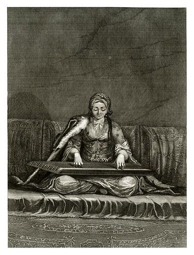 021-Joven turca tocando el canon-Recueil de cent estampes…1714- M. Le Hay