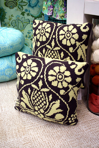 Amy Butler Knit Pillows