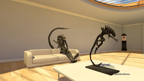 Xenmorph Sitting on Sofa - PlayStation®Home