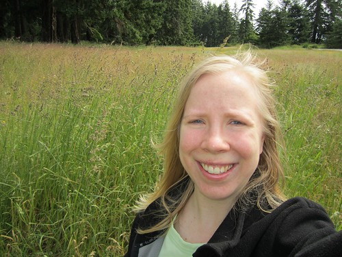 Me, with very tall grass as a backdrop