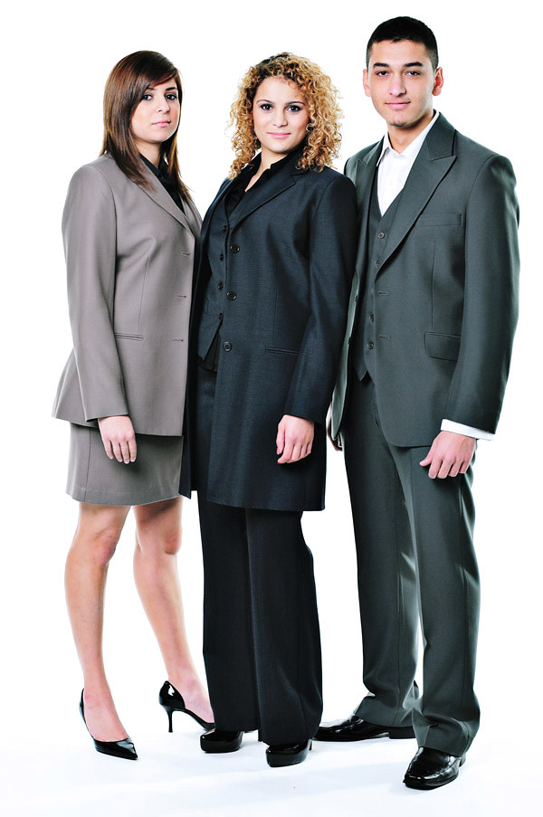 Corporate Fashion, Office Attire, Suits - Studio White Background