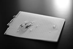 DSC_5722 (loosely_coupled) Tags: wood blackandwhite love water night paper table sadness drops wasser tears heart emotion nacht anger note sheet block brief blatt tisch holz schrift papier liebe regen zettel tropfen sehnsucht buchstaben feiertag valentinstag liebeskummer teardrops trauer romanticism vermissen traurig notiz streit imissu weinen traurigkeit schwarzweis heimweh lovesickness liebesbrief gefuhl gefuhle trane tranen