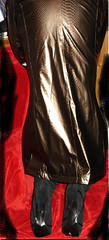 raincoat (ARABELLLLA1) Tags: red black boot women shiny dress coat rubber latex gown raincoat catsuit pvc