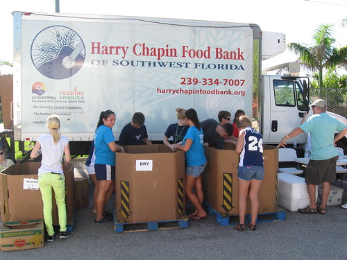 Community Food Drive In Lee County Florida