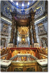 St. Peter's baldachin - HDR - Rome (Margall photography) Tags: italy vatican rome roma st canon photography san italia basilica sigma vaticano marco peters bernini hdr pietro 30d baldachin galletto margall mywinners