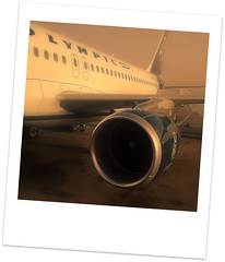 Olympic Air (TheVRChris) Tags: mobile plane nokia airport view air side hellas greece olympic corfu kerkira ελλάδα n78 corfuplanespotting