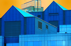 That's My Boy (Book'em) Tags: blue windows ontario abstract geometric lines architecture buildings nikon geometry d200 mississauga epainting