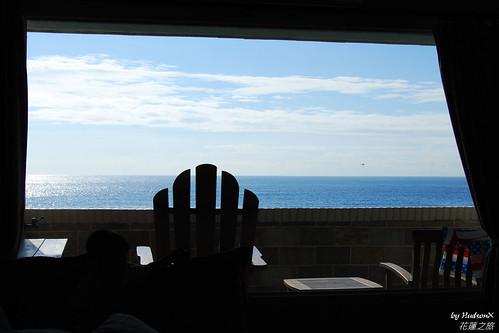 房內直接就可以看海