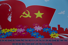Sign for the 11th Party Congress, Thi Nguyn, Thi Nguyn province, Vietnam - Thursday, 7th October 2010 (Lumire en juin) Tags: party sign hammer star vietnam communist communism congress socialist sickle 11th hochiminh xi     thinguyn ng     ihi