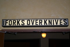Entering the theater to see Forks over Knives