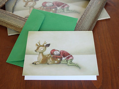 Christmas Card: Reindeer & Elf