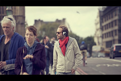 walkman (alessandrogiraldi) Tags: street red london canon walkman candid cinematic 70200 5dmarkii