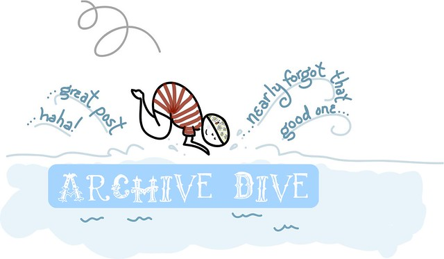 i made it so archive dive logo