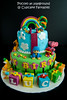 Pocoyo (cupcake_fantasies) Tags: cake singapore elly fondant pocoyo fondantcake singaporefondantcake fondantcakeforkids
