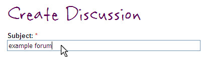 discussion subject